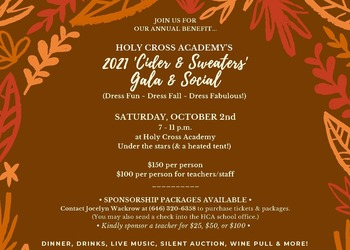 PTA Gala Social - 'CIDER AND SWEATERS'