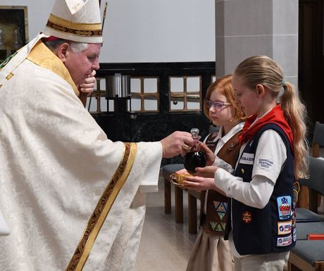 Bishop with Scouts