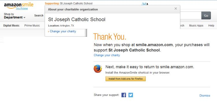 support SJCS at AmazonSmile