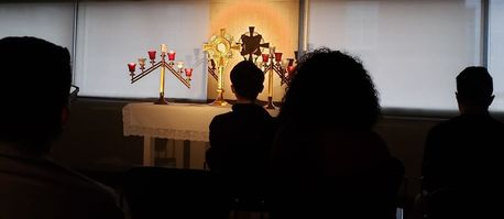 students at Adoration