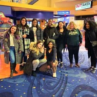 women's group at the movies