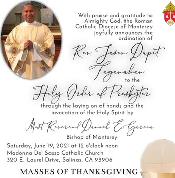 First Mass of Newly Ordained Priest Father Jason Taganahan