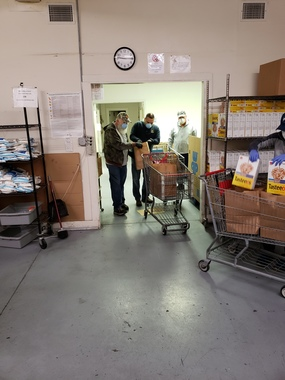 Knights of Columbus help at the Killeen Food Center