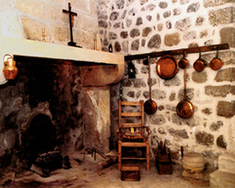The kitchen at Le Puy, home of the Centre International