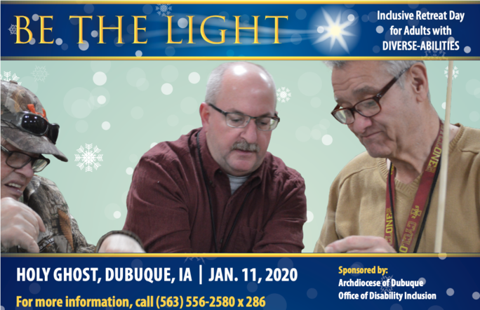 Be the Light, Inclusive Retreat Day for Adults with Diverse Abilities