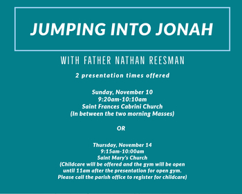 Jumping into Jonah-Thursday Session