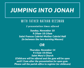 Jumping into Jonah-Sunday Session