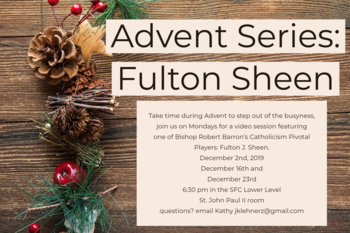 Advent Series: Fulton Sheen