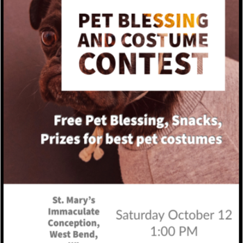 Pet Blessing and Costume Contest