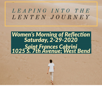 Women's Morning of Reflection-Leaping into the Lenten Journey