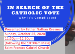 The Catholic Vote: Why it's Complicated