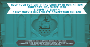 Holy Hour for Unity and Charity in our Nation