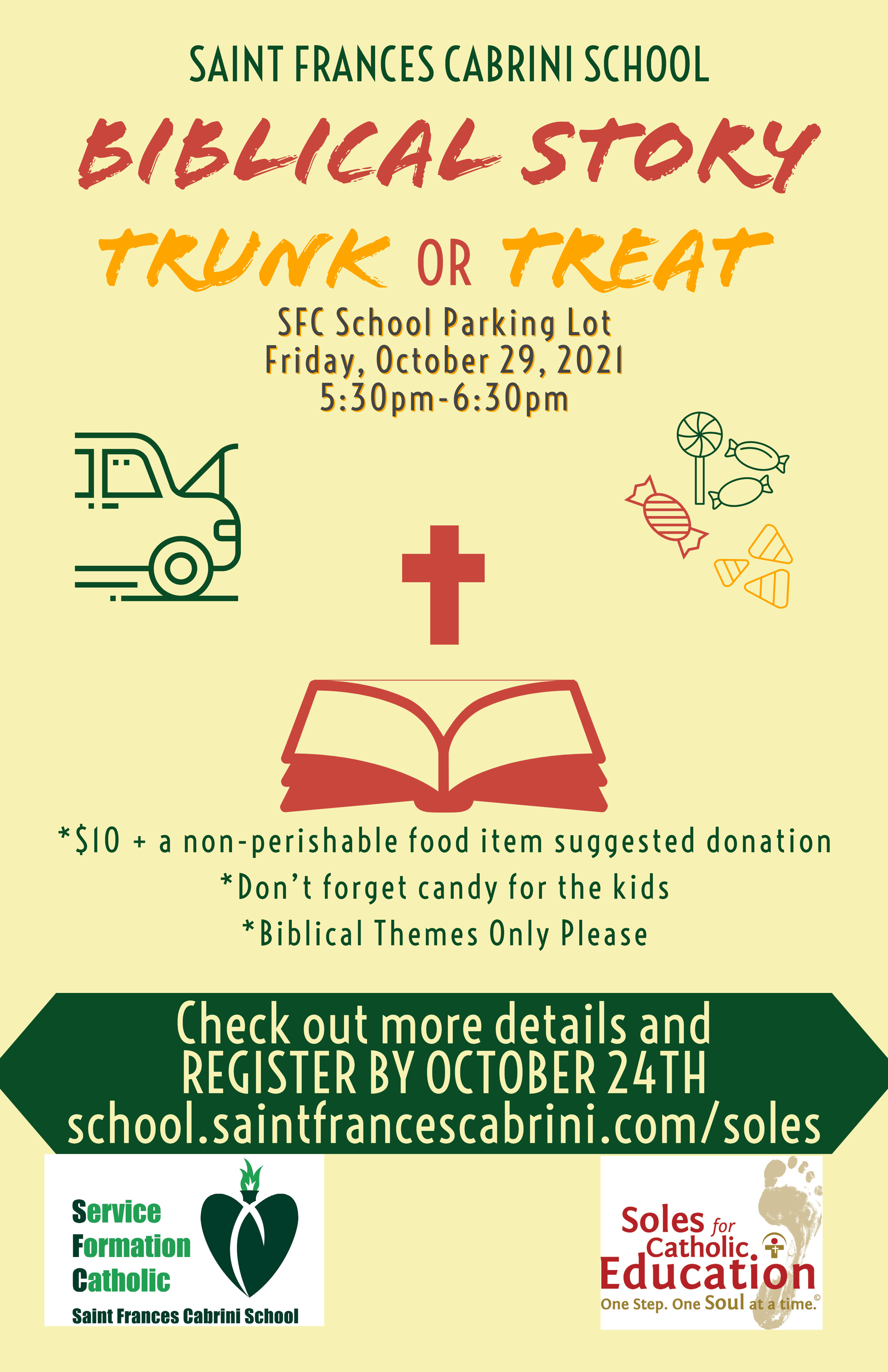 Biblical Story Trunk or Treat poster