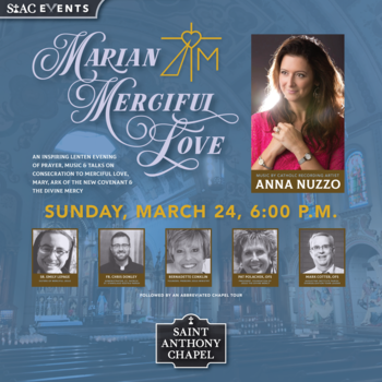 Marian Merciful Love Event, Featuring Anna Nuzzo