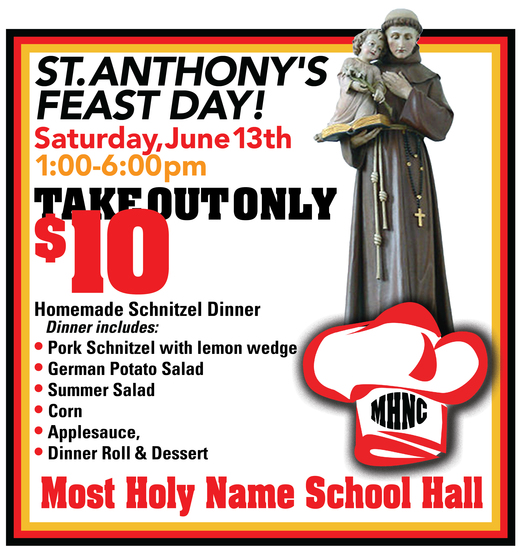 Join us for a Take Out Dinner on June 13th!