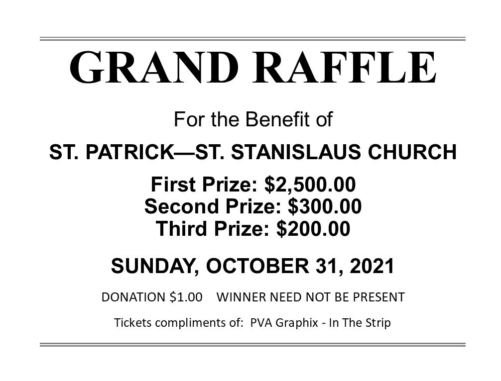 Click here to purchase a Grand Raffle ticket