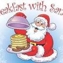 Breakfast with Santa sponsored by the Holy Family Men's Club