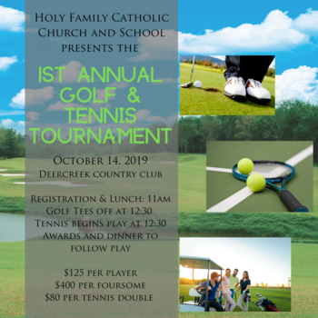1st Annual Golf & Tennis Tournament