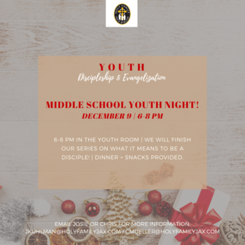 Middle School Youth Night!