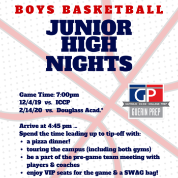 "Boys Basketball Junior High Night ""Red Out"""