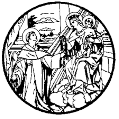 St. Dominic receiving the Rosary from the Blessed Virgin Mary