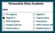 Link to Khan Academy - free online course material