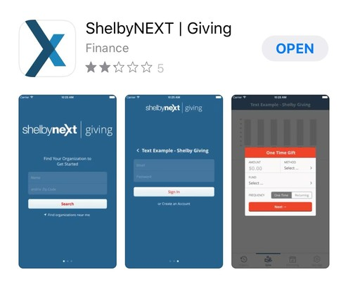 You can download the ShelbyNEXT/Giving app on your iphone to set up donations to JGS Church. Please consider continuous giving even though Mass is cancelled.