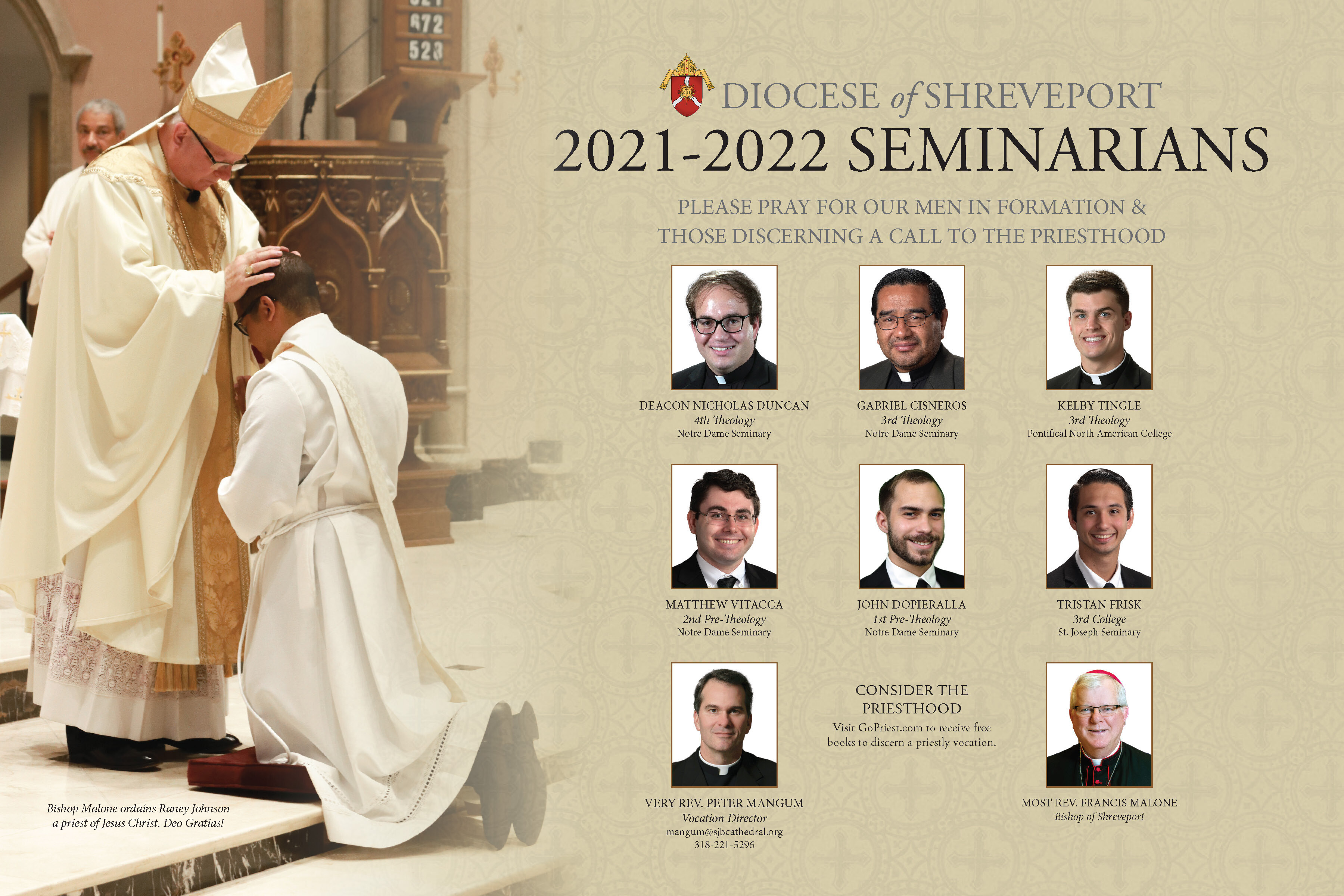 2021-2022 Diocese of Shreveport Seminarians