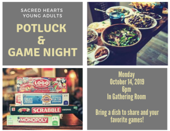 Young Adult Potluck & Game Night
