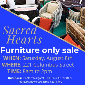 Furniture Only Sale this SATURDAY - August 8th!