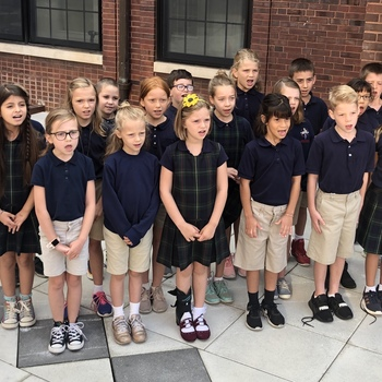 2-4 Grade Choir Sings at 7:30am Mass for All Saints Day