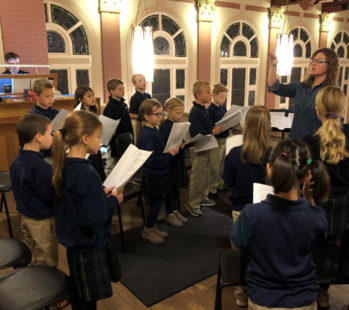 2-4 Grade Choir Sings at 7:30 Mass