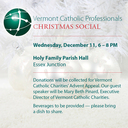 Vermont Catholic Professionals Christmas Social