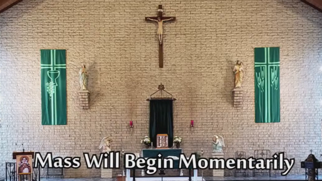 View Live streamed Weekly Saturday Vigil Mass, 4pm from St. Wendelin
