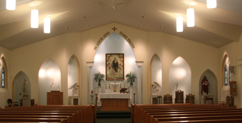 Interior, Our Lady of the Angels Church, Randolph VT
