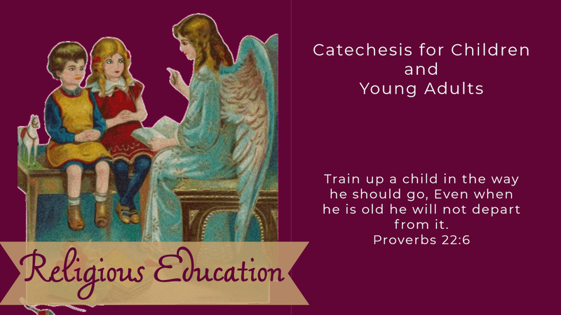 Religious education for children and ypoung adults at St Anthony Church, Bethel VT