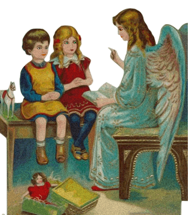 Angel teaching children