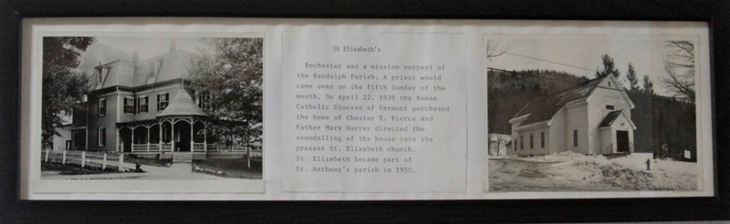 St Elizabeth Church, Rochester VT: brief history and pictures.
