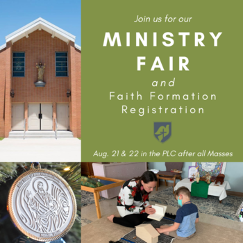 Ministry Fair and Faith Formation Registration