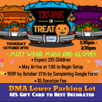 Trunk or Treat Sign Up DUE