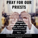 Pray for our Priests - Mass and Reception