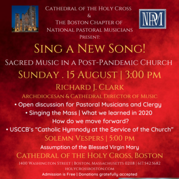 Sing to the Lord! Sacred Music in a Post Pandemic Church