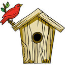 Bird Houses made from Church Pews ~ Donations to Baby Bottle Campaign