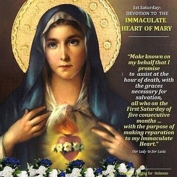First Saturday Devotions - In Reparation to the Immaculate Heart of Mary