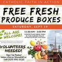 Free Fresh Produce Boxes at St. Jude on Saturday, Sept. 19