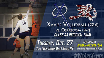 Regional Volleyball: Xavier vs. Oskaloosa