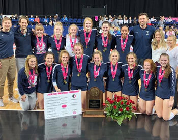 State champion Xavier Volleyball team