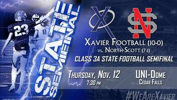 State Football Semifinal: Xavier vs. North Scott