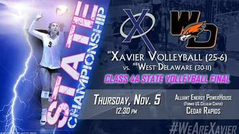 State Volleyball: Xavier vs. West Delaware