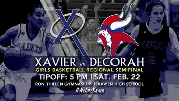 Xavier vs. Decorah: Girls Basketball Regional Semifinal